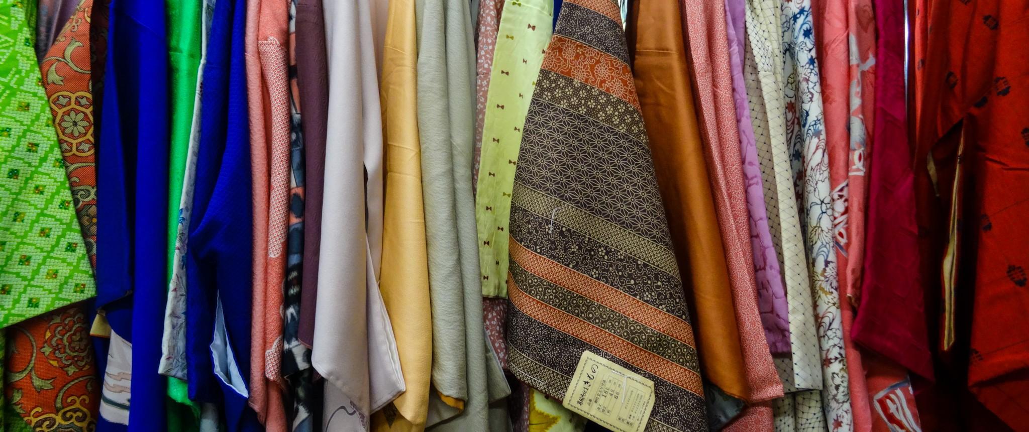Des kimonos et des haoris chinés au Japon par Camille!